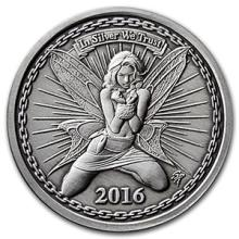 1 oz Silver Antique Round - Reddit Silverbug Alyx The Fairy #74543v3