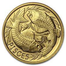 1/10 oz Gold Round Zodiac Series Pisces Proof #75256v3