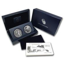 2013 2-Coin Silver American Eagle West Point Set (w/Box & COA) #74986v3