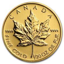 Canada 1/20 oz Gold Maple Leaf (Random Year) #75416v3