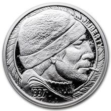 1 oz Silver Round - Hobo Nickel Replica (The Fisherman) #74519v3