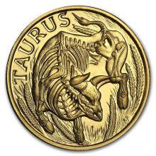 1/10 oz Gold Round Zodiac Series Taurus #75262v3