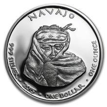 2015 1 oz Silver Proof NAM State Dollars New Mexico Navajo #74589v3