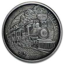 1 oz Silver Antique Round - Hobo Nickel Replica (The Train) #74569v3