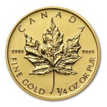 2014 Canada 1/4 oz Gold Maple Leaf BU #75450v3