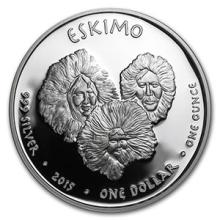 2015 1 oz Silver Proof State Dollars Alaska Eskimo #74587v3