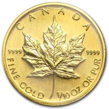 2006 Canada 1/10 oz Gold Maple Leaf BU #75470v3