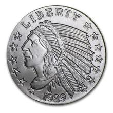 1/4 oz Silver Round - Incuse Indian #74480v3