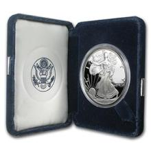 2002-W 1 oz Proof Silver American Eagle (w/Box & COA) #74969v3