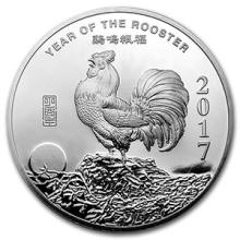 5 oz Silver Round - (2017 Year of the Rooster) #74576v3