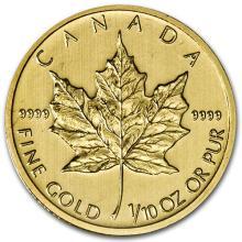 2013 Canada 1/10 oz Gold Maple Leaf BU #75473v3