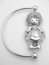 Raggedy Ann Silver Baby Rattle #PAPPS97317