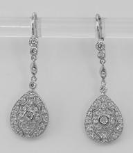 Classic Crystal Drop Earrings - Sterling Silver #PAPPS97656