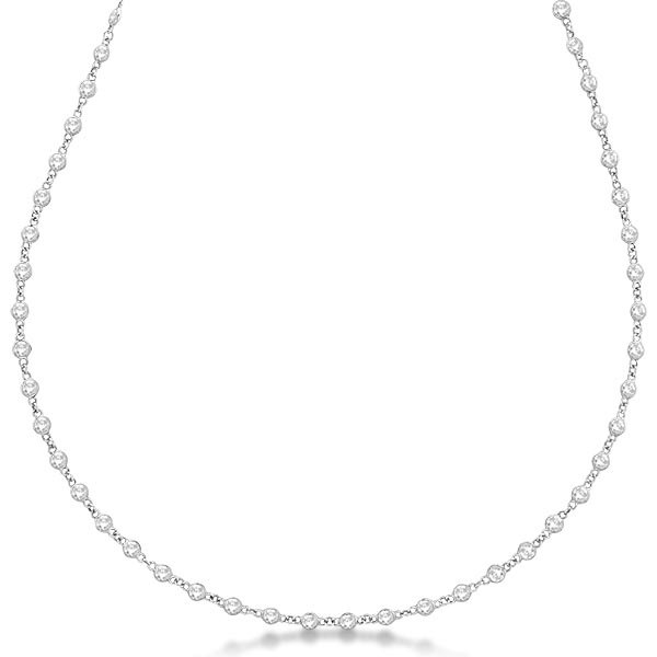 Diamonds by The Yard Eternity Necklace in 14k White Gold (5.25ct) #PAPPS20570