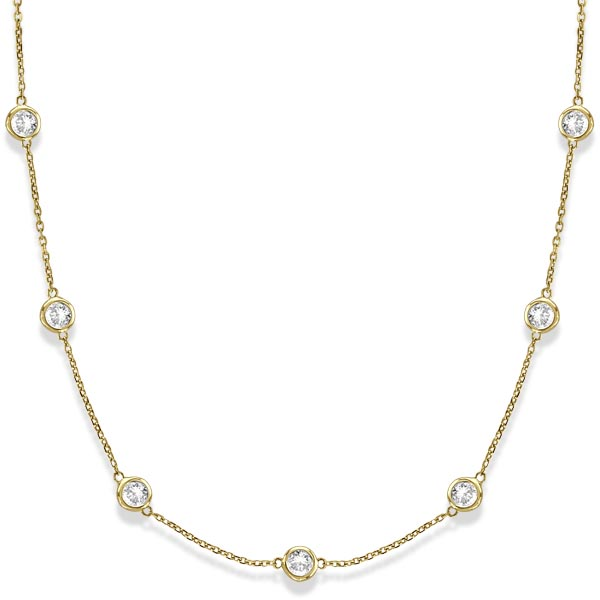 Diamonds by The Yard Bezel-Set Necklace in 14k Yellow Gold (3.00ct) #PAPPS20448