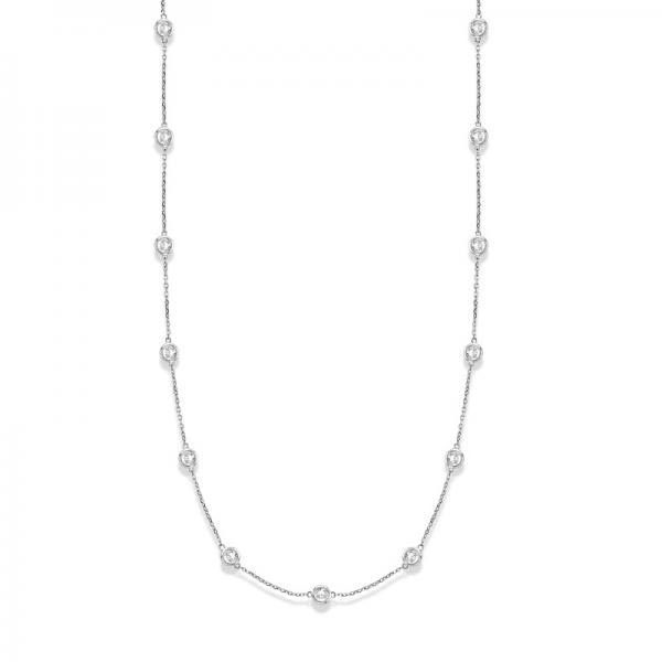 36 inch Diamonds by The Yard Station Necklace 14k White Gold (6.00ct) #PAPPS20411