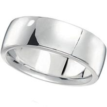 Mens Wedding Band Low Dome Comfort-Fit in 14k White Gold (7 mm) #PAPPS21158