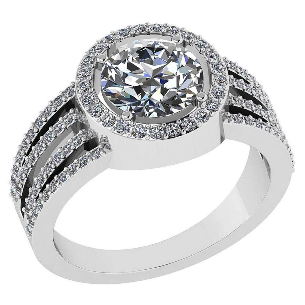 Certitifed 2.41 Ctw Diamond 14k White Gold Halo Ring vs/si2 #PAPPS97111