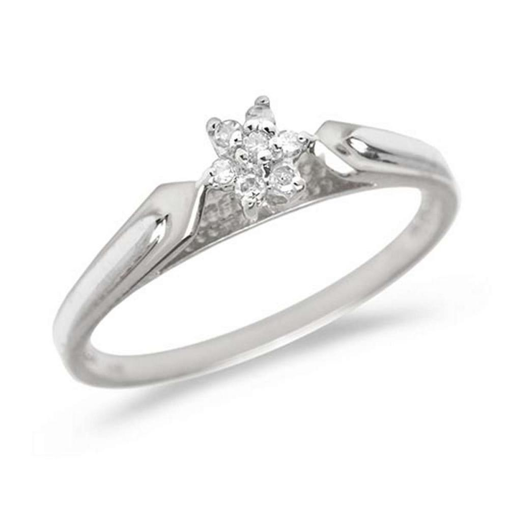 Certified 14K White Gold Diamond Cluster Ring #PAPPS50678