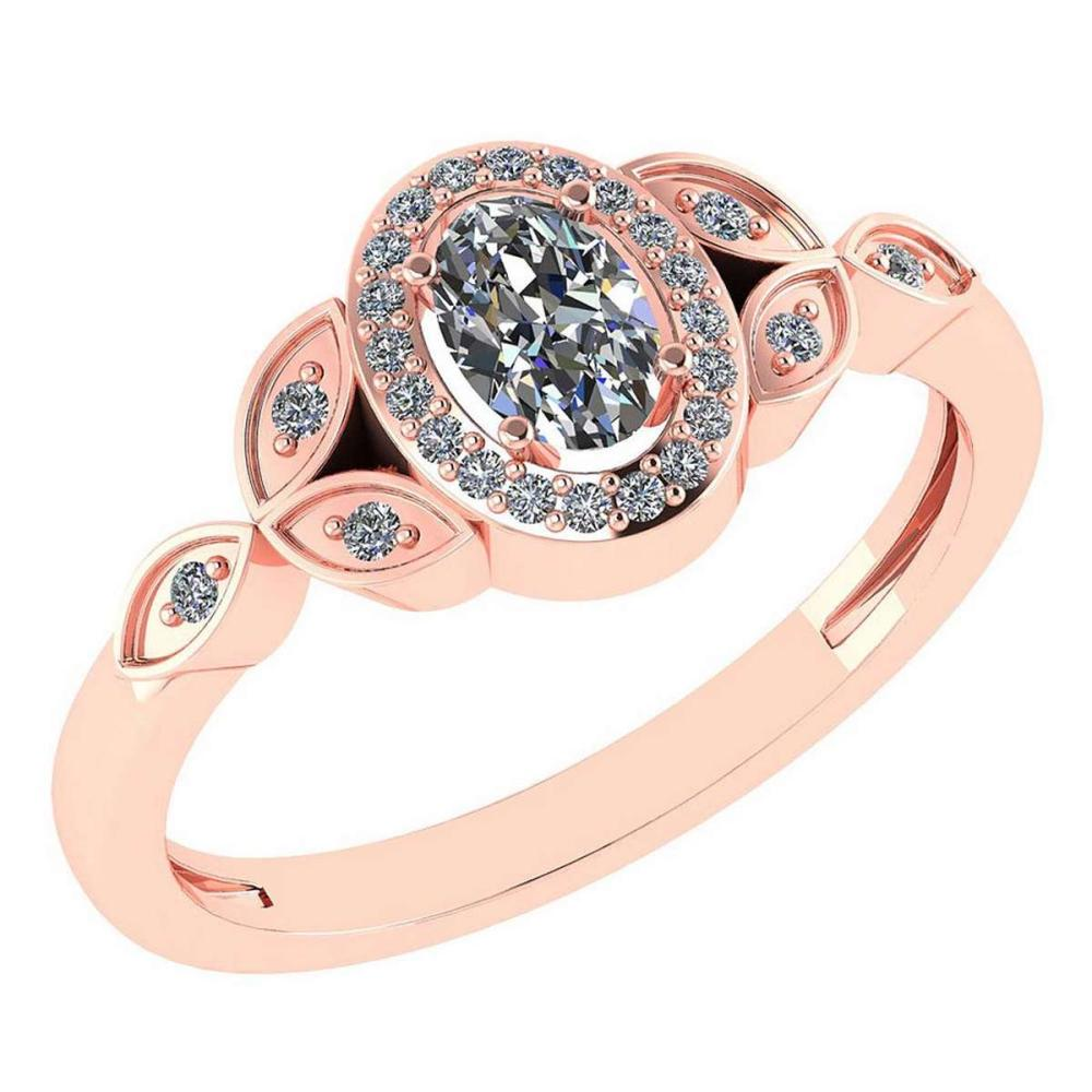 Certitifed 0.84 Ctw Diamond 14k Rose Gold Halo Ring #PAPPS97118