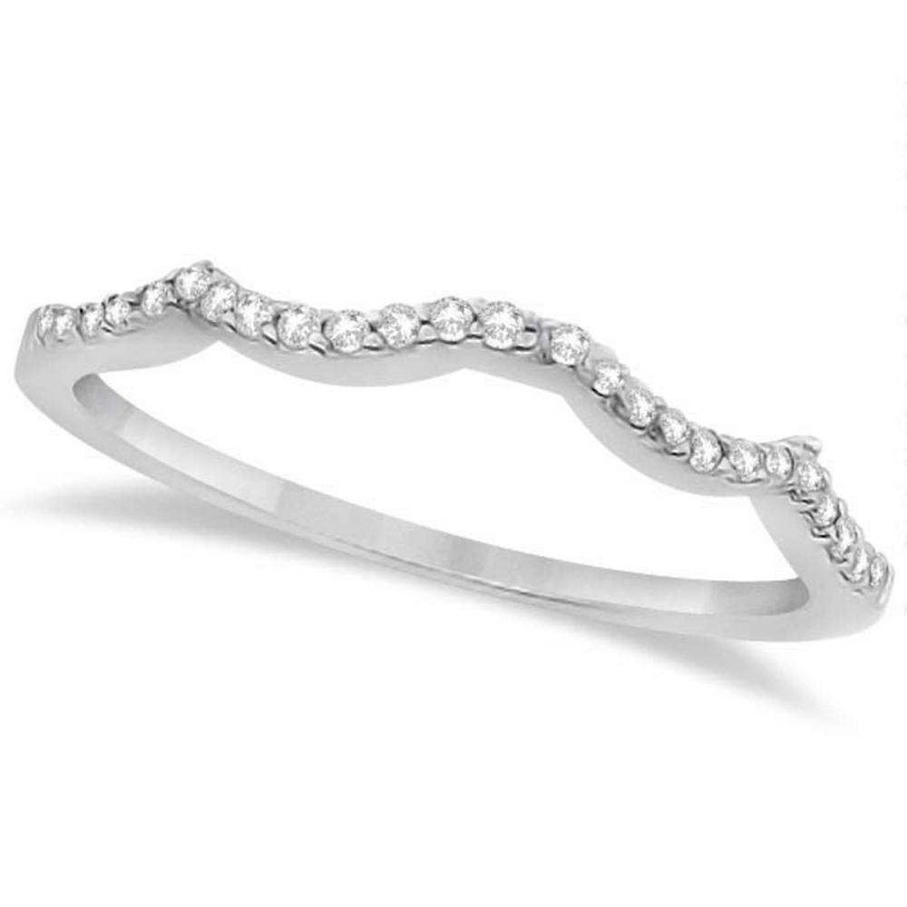 Contour Diamond Accented Wedding Band platinum (0.13ct) #PAPPS20691