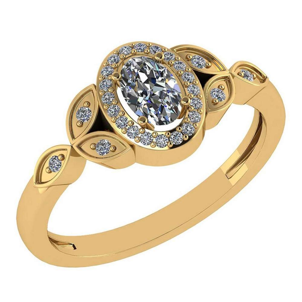 Certitifed 0.84 Ctw Diamond 14k Yellow Gold Halo Ring #PAPPS97119