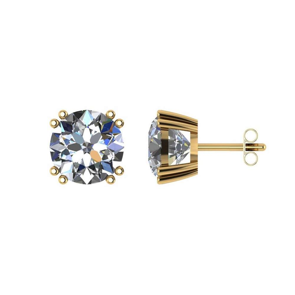 Certified 1.00 CTW Round Diamond 14K Yellow Gold Earring #PAPPS91987