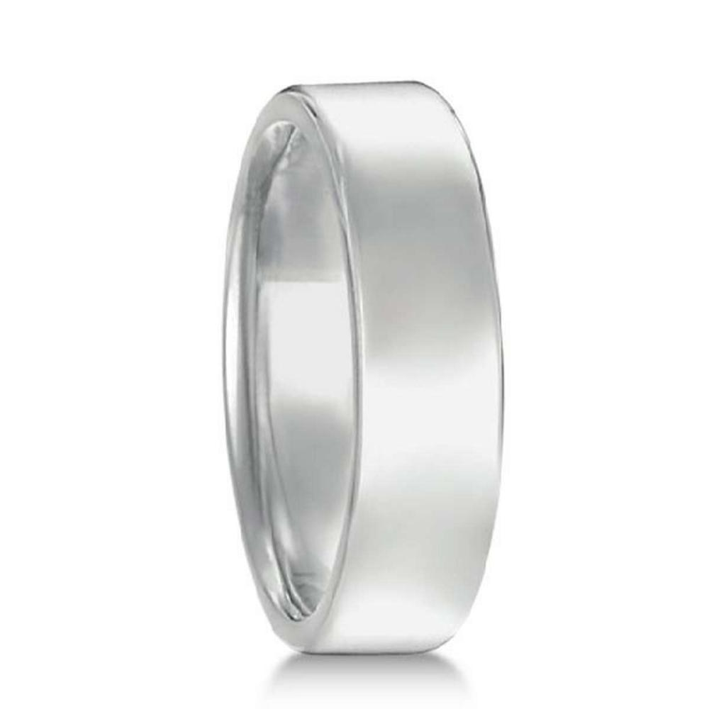 Euro Dome Comfort Fit Wedding Ring Mens Band in Palladium (5mm) #PAPPS21246