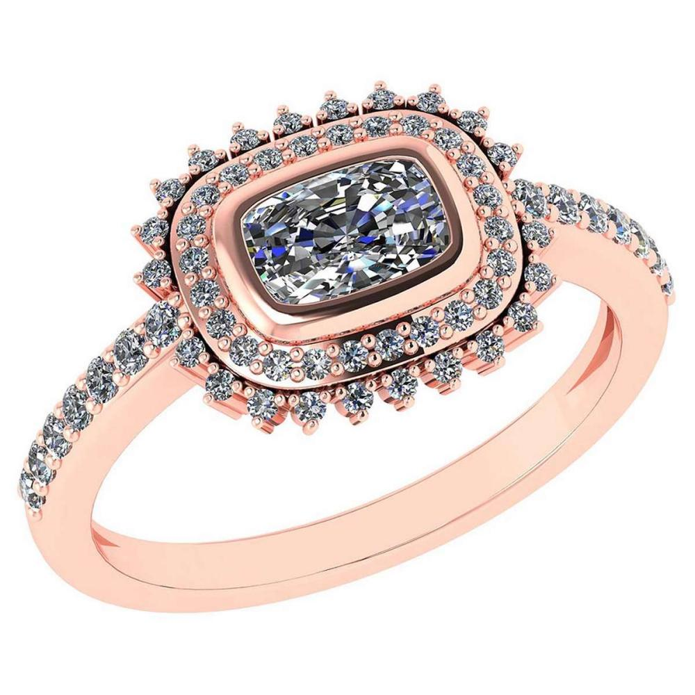 1.94 Ctw Diamond 14k Rose Gold Halo Ring VS/SI2 #PAPPS96926