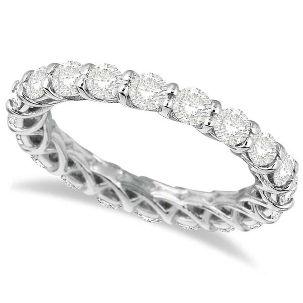 Luxury Diamond Eternity Anniversary Ring Band 14k White Gold (1.50ct) #PAPPS20761