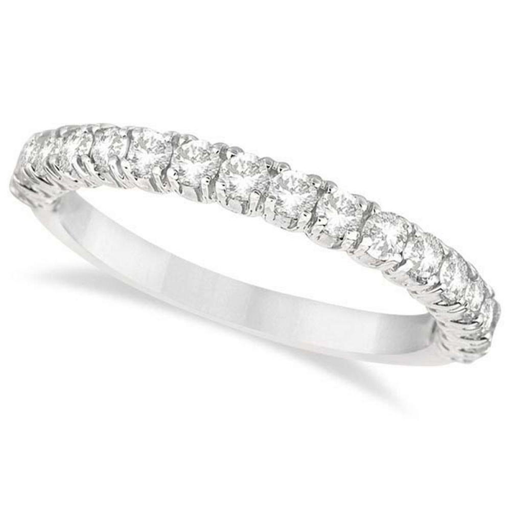 Half-Eternity Pave-Set Diamond Stacking Ring Palladium (0.75ct) #PAPPS20820