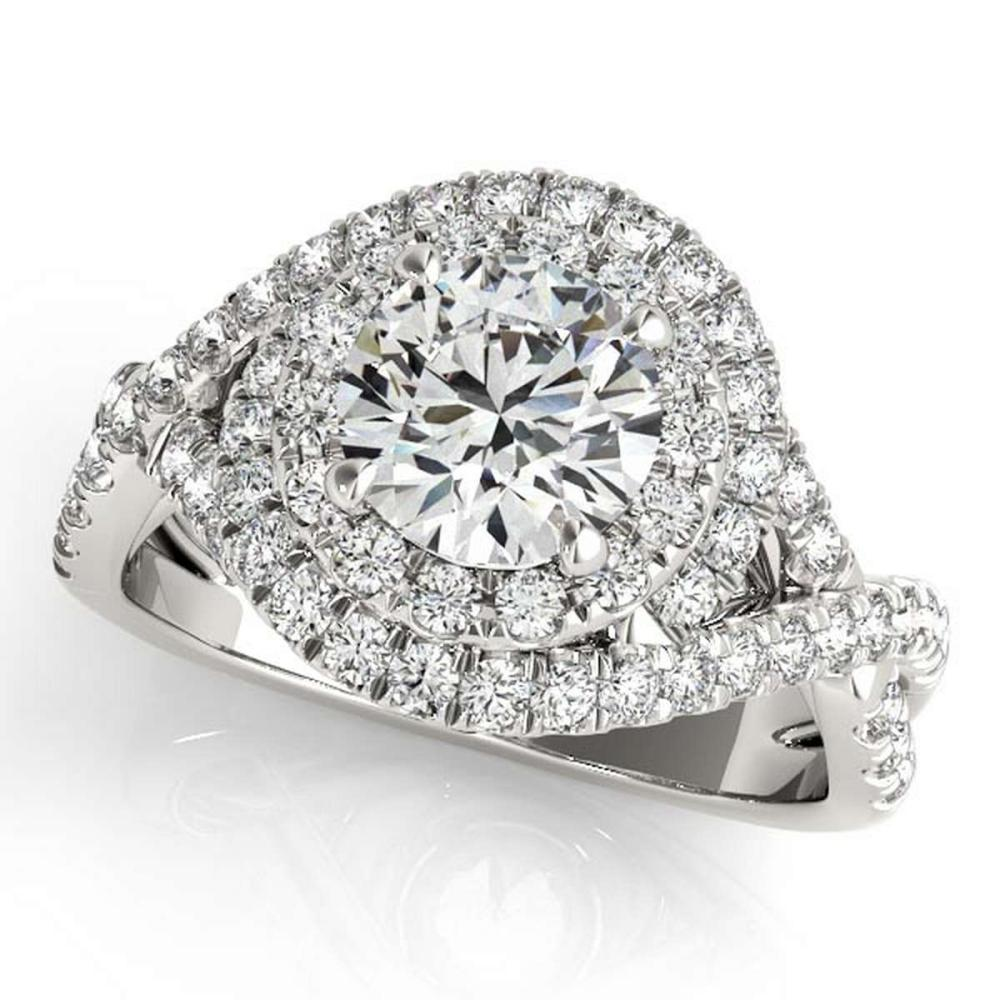 Infinity Twist Diamond Halo Engagement Ring 14k White Gold (1.63ct) #PAPPS20710