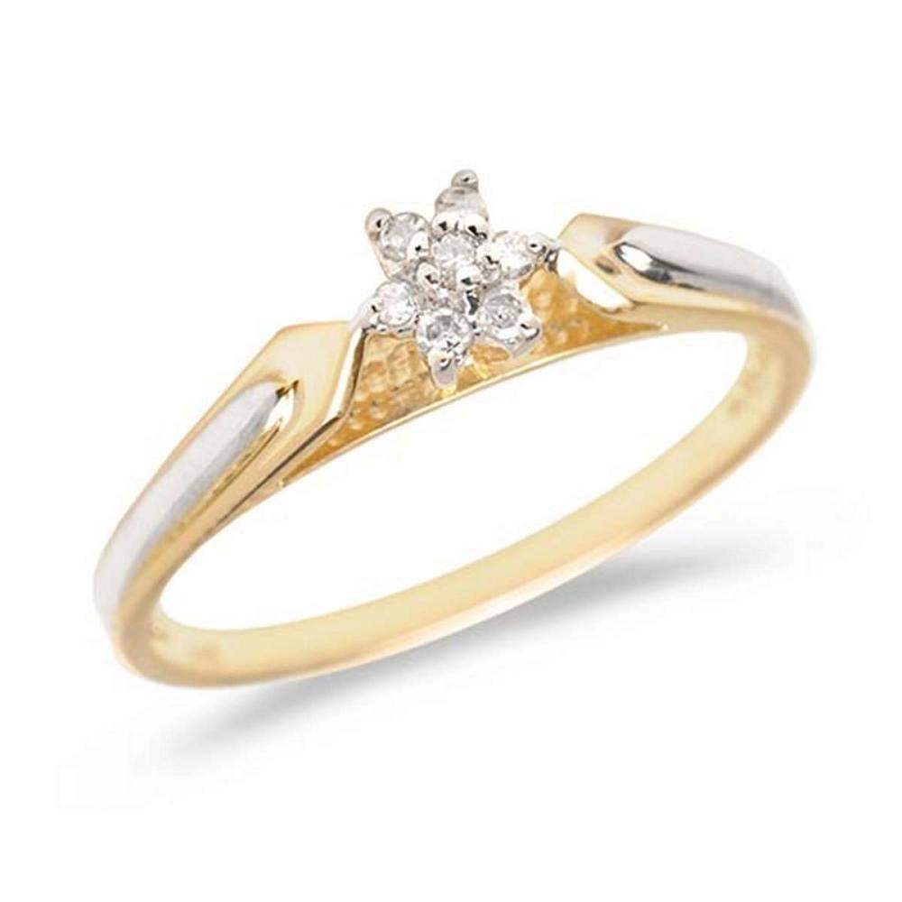 Certified 14K Yellow Gold Diamond Cluster Ring #PAPPS50683