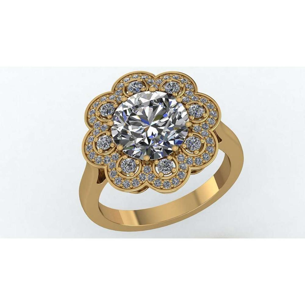 Certified 1.75 CTW Round Diamond 14K Yellow Gold Ring #PAPPS91975