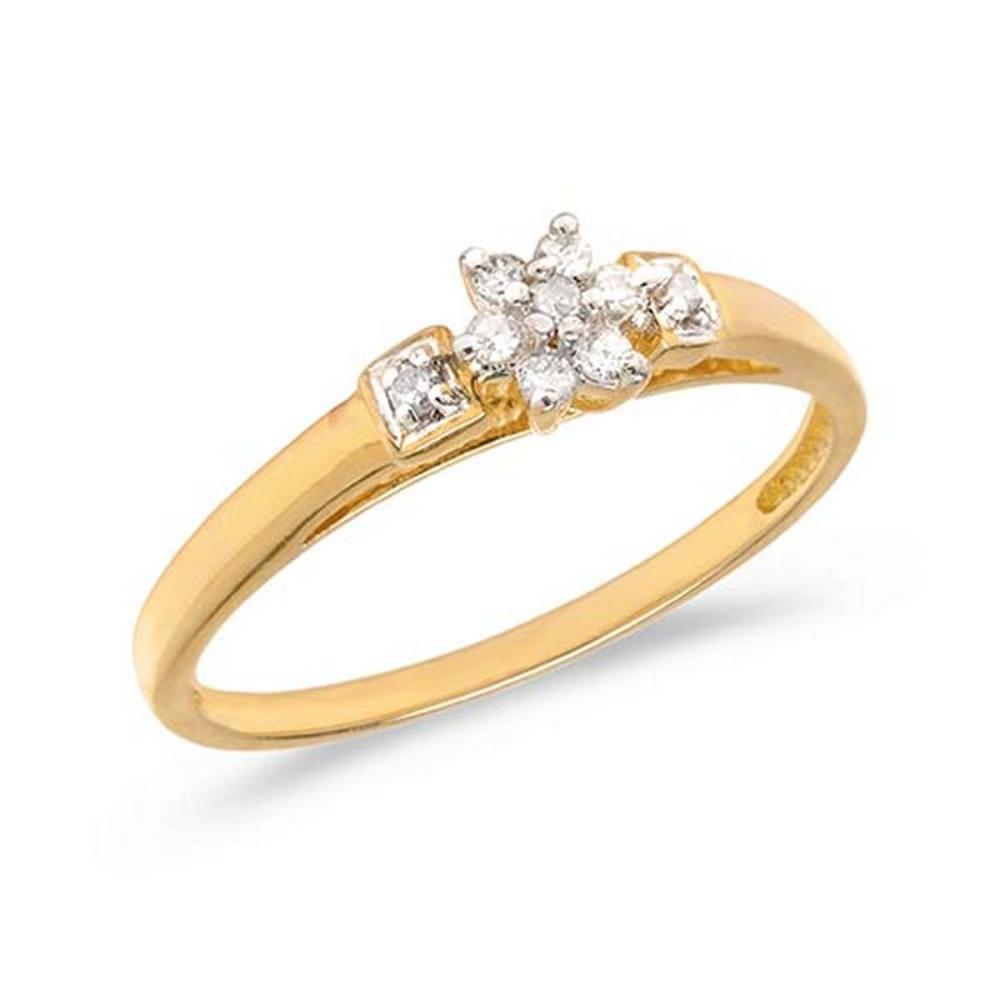 Certified 14K Yellow Gold Diamond Cluster Ring #PAPPS50738