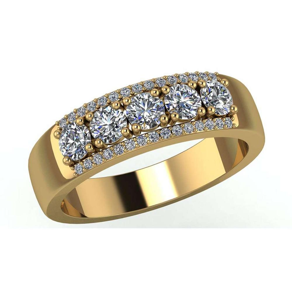 Certified 1.60 CTW Round Diamond 14K Yellow Gold Ring #PAPPS91977