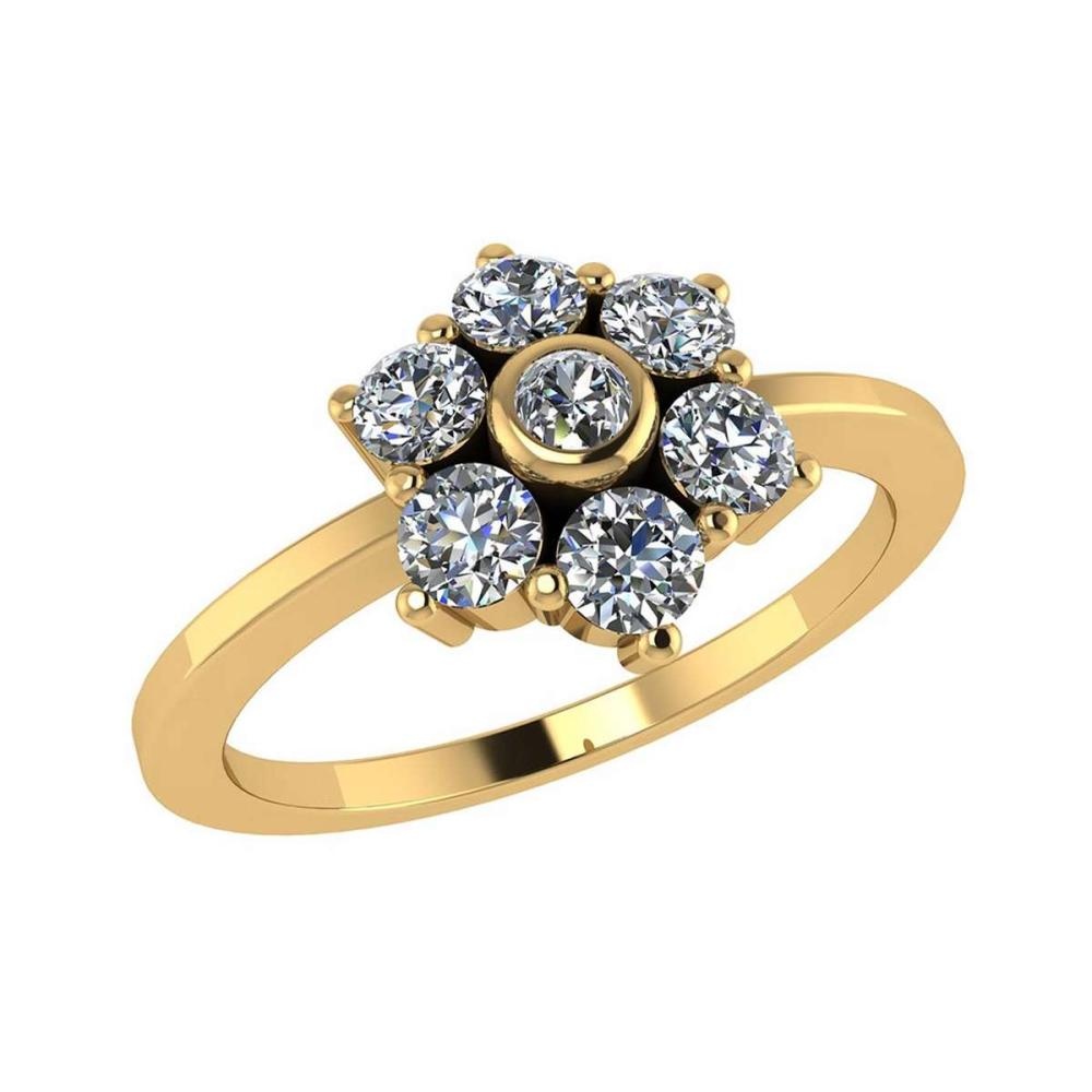 Certified 1.30 CTW Round Diamond 14K Yellow Gold Ring #PAPPS91982