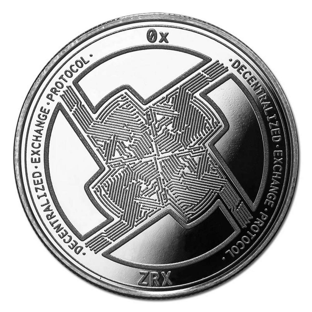 1 oz Silver Bullion Cryptocurrency 0x Protocol Round .999 fine #PAPPS84375