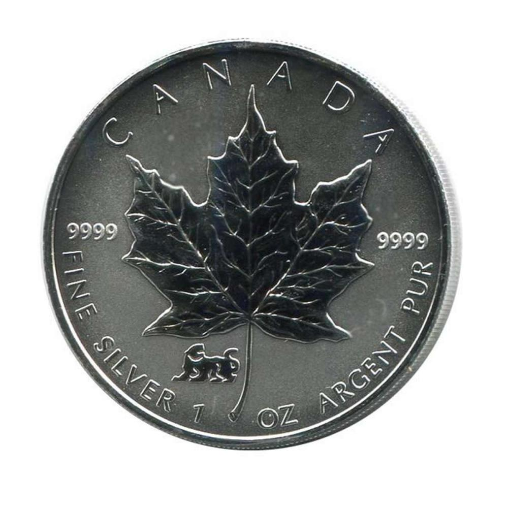 1998 Canada 1 oz. Silver Maple Leaf Reverse Proof Tiger Privy Mark #PAPPS84466