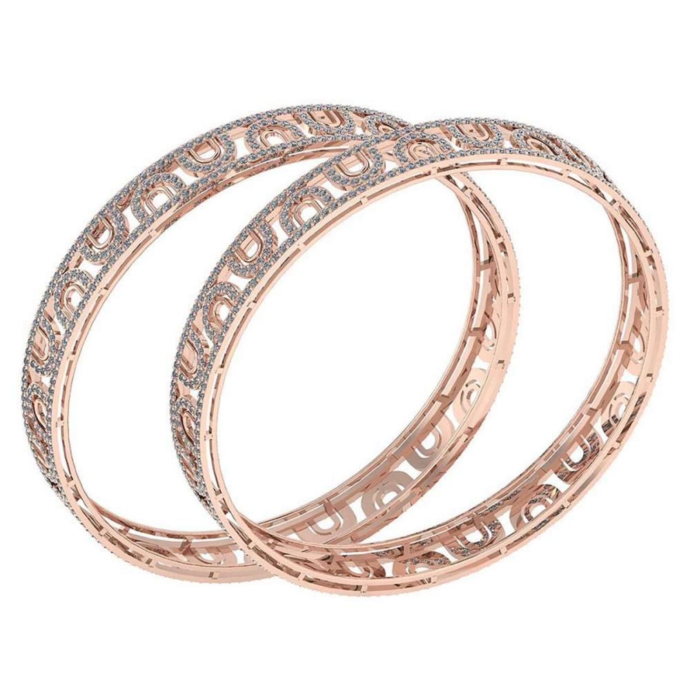 Certified 8.12 Ctw Diamond VS/SI1 Bangles 14K Rose Gold Made In USA #PAPPS23854