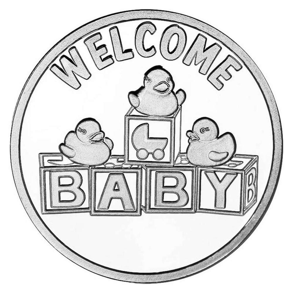 Welcome Baby .999 Silver 1 oz Round #PAPPS84483
