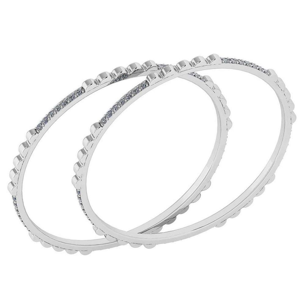 Certified 2.10 Ctw Diamond VS/SI1 Bangles 14K White Gold Made In USA #PAPPS23829