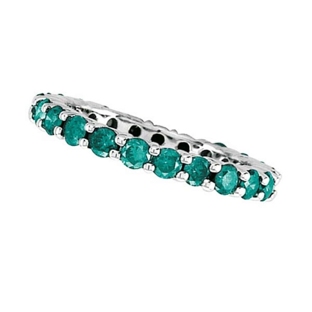 Blue Diamond Eternity Band in 14K White Gold by PAPPS (2.00 ctw)  #PAPPS20886
