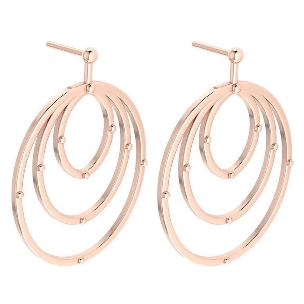 Gold MADE IN ITALY Styles Hangning Stud Earrings For beautiful ladies 14k Rose Gold MADE IN ITALY #PAPPS20273