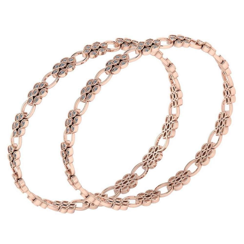 Certified 6.55 Ctw Diamond VS/SI1 Bangles 14K Rose Gold Made In USA #PAPPS23833