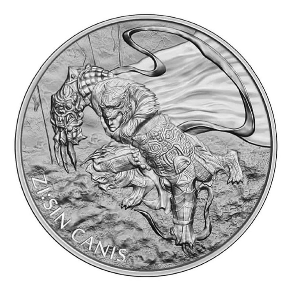 2018 South Korea 1 oz Silver ZI:SIN Canis #PAPPS84446
