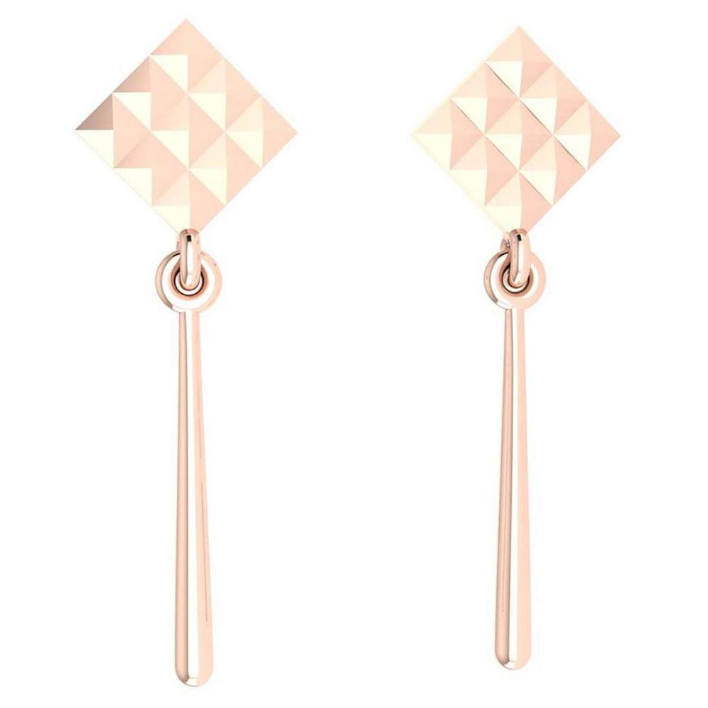 Gold MADE IN ITALY Styles Hangning Stud Earrings For beautiful ladies 14k Rose Gold MADE IN ITALY #PAPPS20270