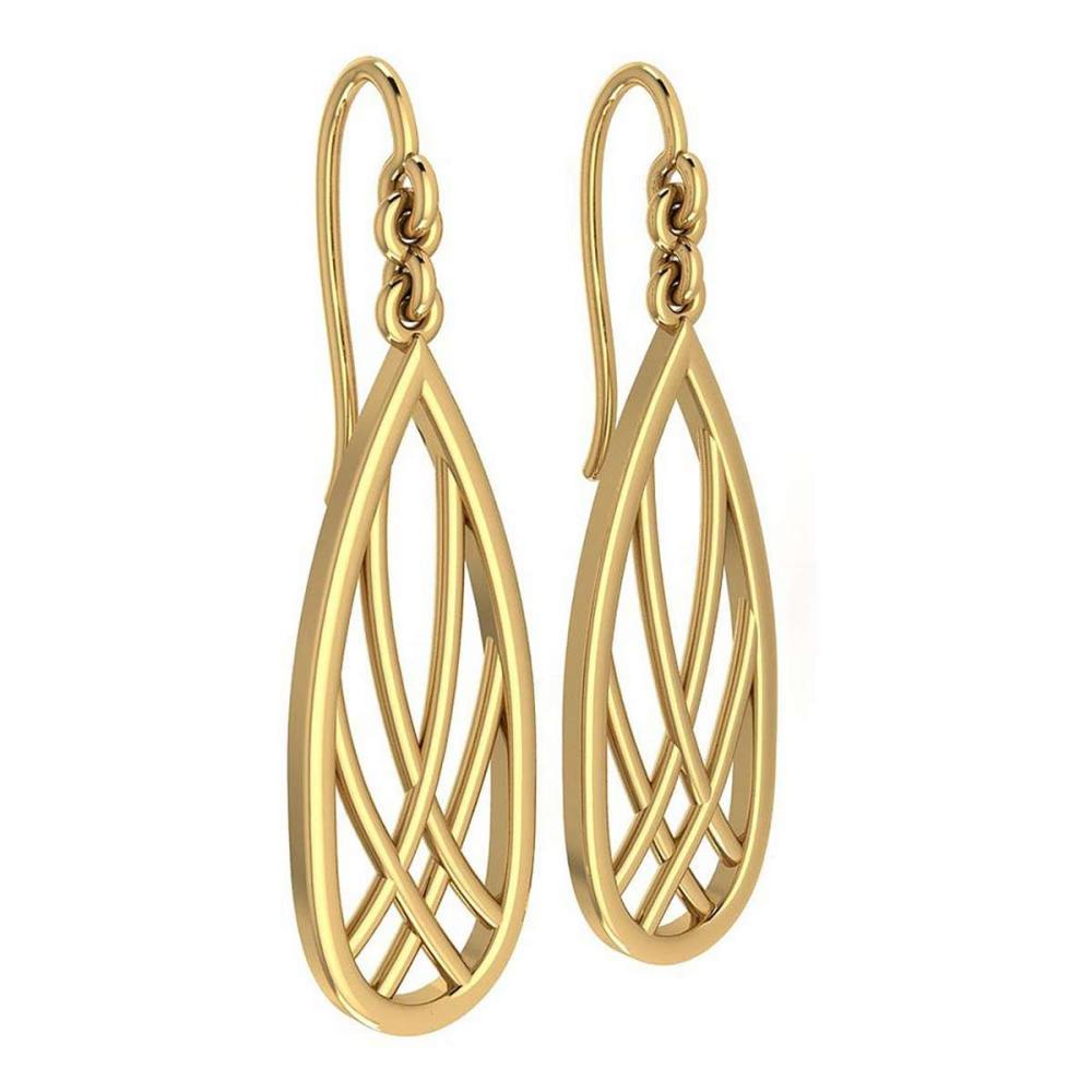 Gold Wire Hook Earrings 14K Yellow Gold Made In Italy #PAPPS22208