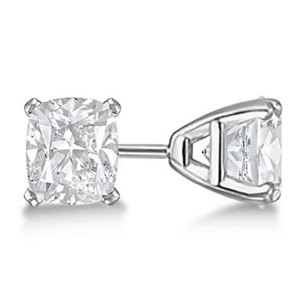 0.75ct. Cushion-Cut Diamond Stud Earrings 14kt White Gold (G-H VS2-SI1) #PAPPS20881