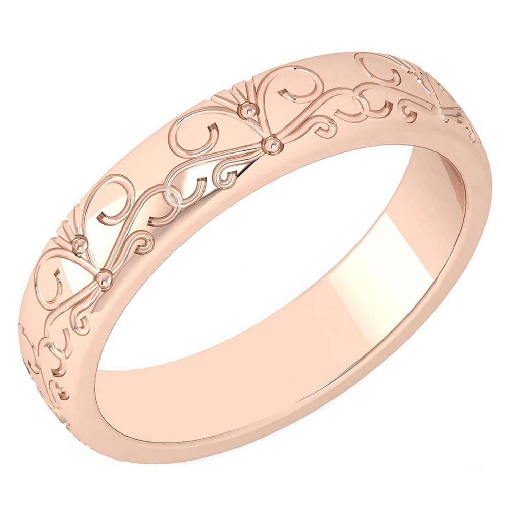 Gold MADE IN ITALY filigree Bands For beautiful ladies 14k Rose Gold MADE IN ITALY #PAPPS20285